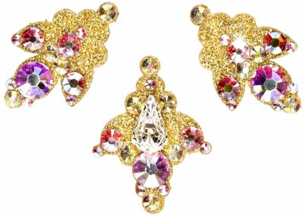 Venice 1 Gold-Kristall AB 1016017DE Körperschmuck Swarovski Crystal