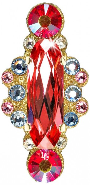 Angelina 1 Gold-Coral 1016020DE Körperschmuck Swarovski Crystal Coral