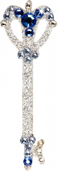 Sonia BareSkin Jewels Tattoo Schmuck Schlüssel Secret 18 x 52 mm Blau/Silber