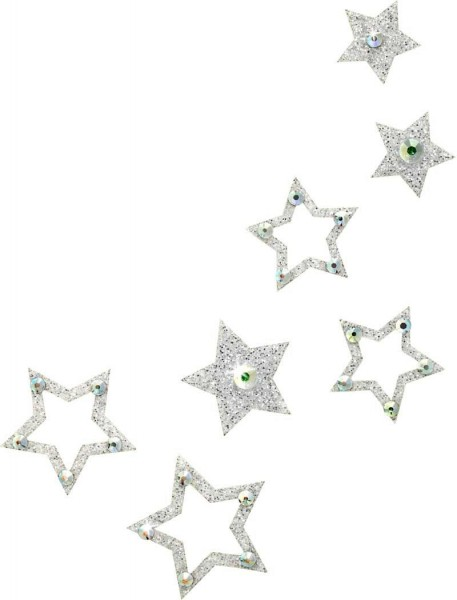Fame 2 Silber-Kristall AB 1016053DE Körperschmuck Swarovski Crystal