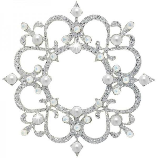 Rome 7 Silber-Perle 1016046DE Körperschmuck Swarovski Crystall Weiß Perle