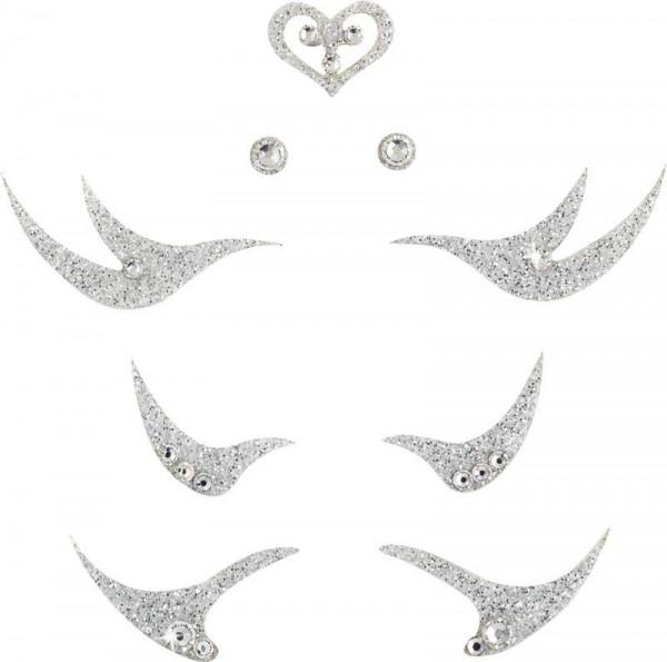 Glamour 1 Silber-Kristall 1016062DE Körperschmuck Swarovski Crystal