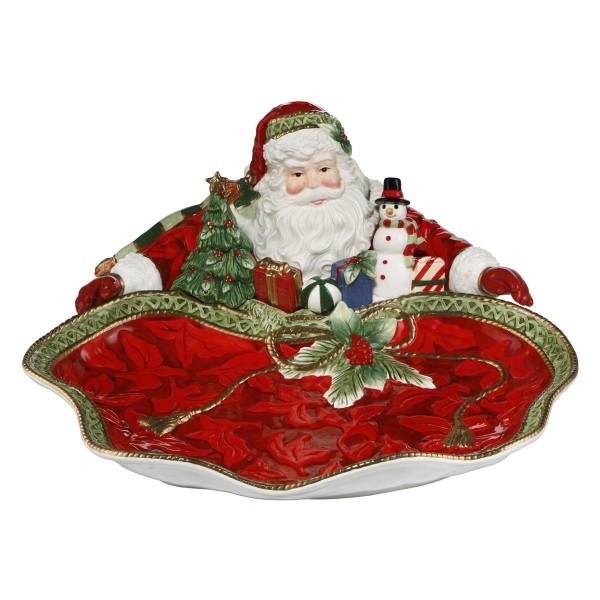 Schale - Santa präsentiert, Rot