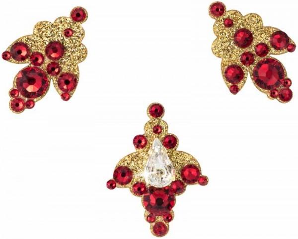 Venice 8 Gold-Rot 1016080DE Körperschmuck Swarovski Crystal Rot
