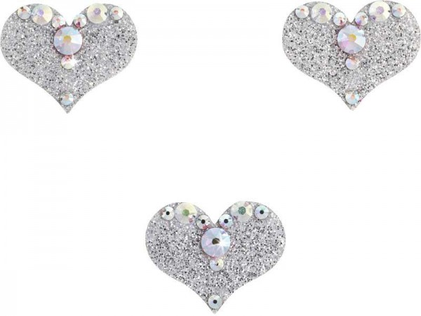 Love 2 Silber-Kristall AB 1016048DE Körperschmuck Swarovski Crystal AB