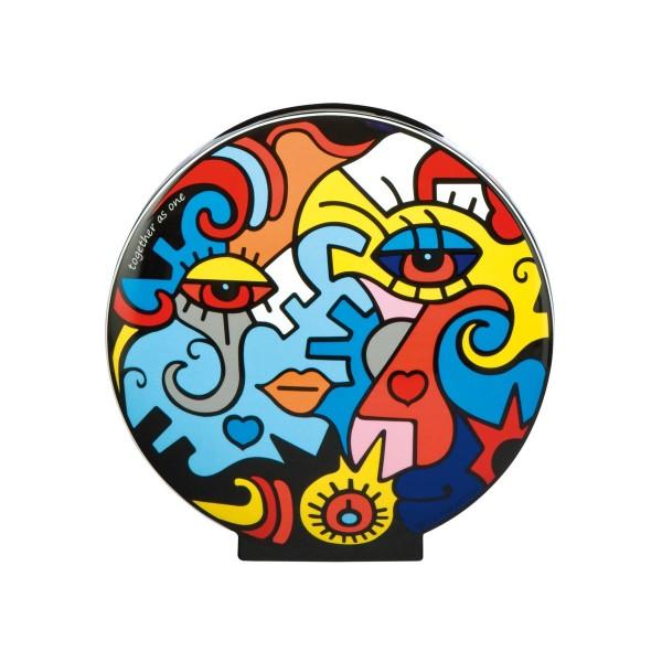 Goebel - Together/Two in One - Vase mit Zwei Ansichten - Porzellan Höhe 20 cm