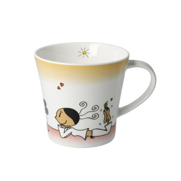 Goebel Coffee-/Tea Mug Der kleine Yogi Wundervoll 54101281 Künstlertasse
