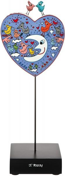Goebel Birds Love The Moon - Figur Pop Art James Rizzi Bunt Porzellan 26102321