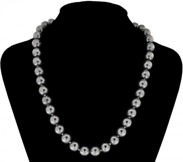 Perlmutt Violett Kette 46cm, ca. 10mm Perlengröße Collier Halskette Mother-of-Pearl MOP05