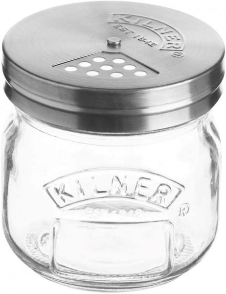 Kilner Streu-Gläschen mit Drehverschluss Streuer, Glas, Transparent, 0.25L 0025.404