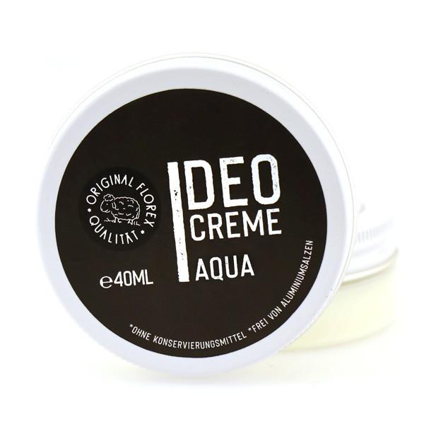 """Florex Deocreme 40ml """"Black Edition"""" schwarz, Auqa - mit Sheabutter und Kokosöl, ohne Aluminiumsalze"""