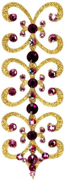 Florence 2 Gold-Rosa 1016008DE Körperschmuck Swarovski Crystall Rosa