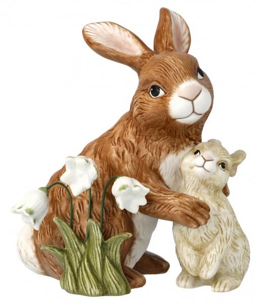 Goebel Jahreshase 2021 zwei Hasen mit Schneeglöckchen Limitierte Ostern Jahres-Editionen
