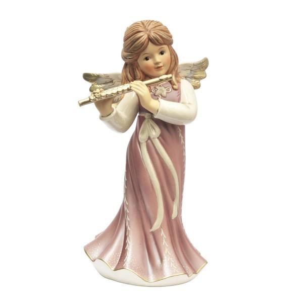 Goebel Engel Himmelsmusik 41512621 Trendfarbe Pearly Velvet Weihnachtsfigur Weihnachtsdekoration