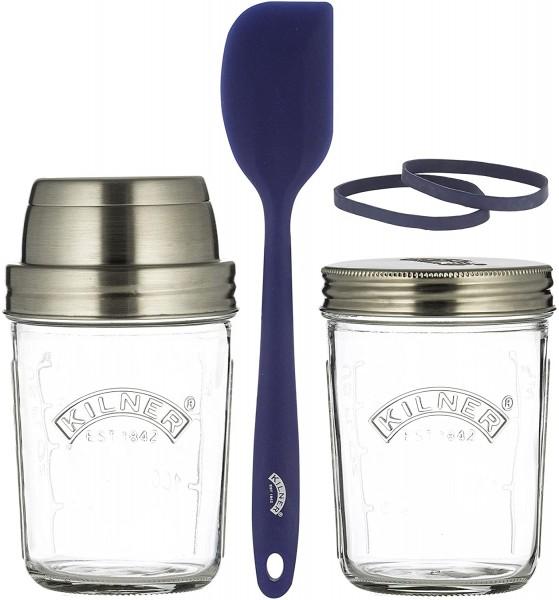 Kilner Sauerteig-Herstellungsset Glas 350 ml 0025.035 2 Gläser u. Zubehör