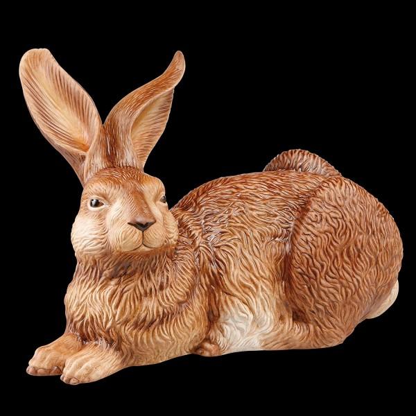 """Figur Hase - """"Adelais"""" Goebel Ostern Figur Osterhase, Porzellan, weiß, 24x14x16 cm"""