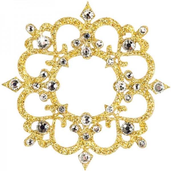 Rome 1 Gold-Kristall 1016013DE Körperschmuck Svarowski Crystal Gold Kristall
