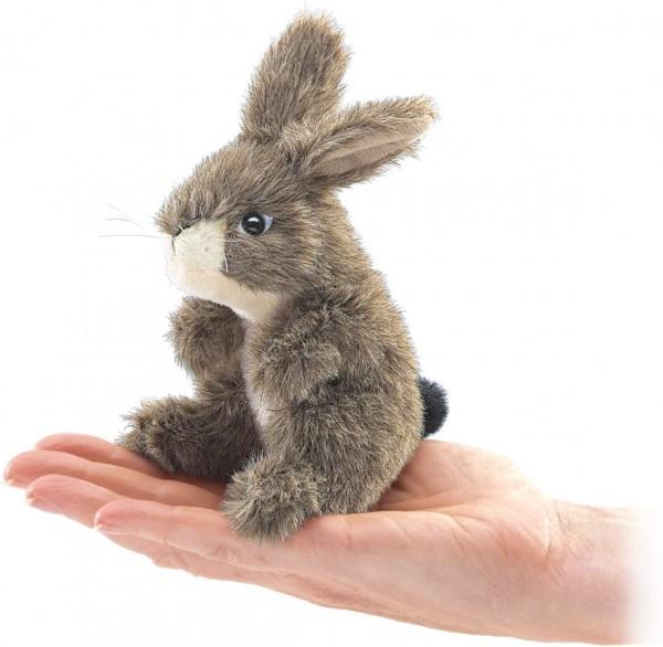 Folkmanis 2675 Fingerpuppe braun Mini Feldhase Mini Jack Rabbit