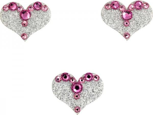 Love 3 Silber-Hellrosa 1016049DE Körperschmuck Swarovski Crystal Pink