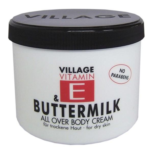 Village 9506-13 Buttermilk Body Cream 500ml mit Vitamin E Feuchtigkeitscreme