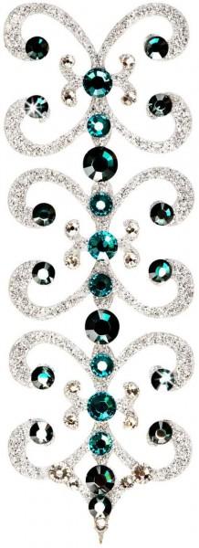 Florence 6 Silber-Grün 1016012DE Körperschmuck Swarovski Crystal Grün