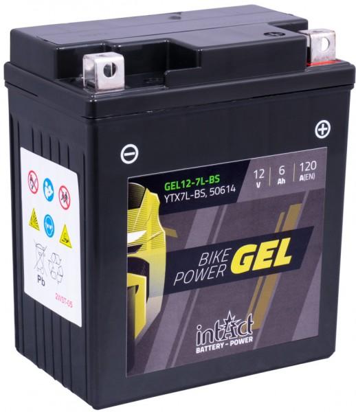 Intact Bike-Power GEL 12V 6Ah YTX7L-BS 50614 Gel12-7L-BS YTX7L-BS; WP7L-B; S712B
