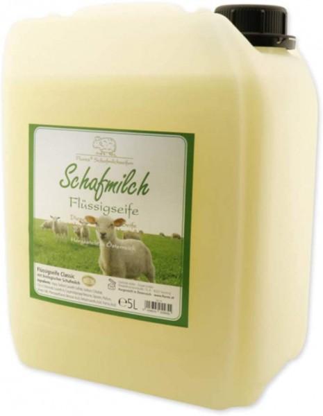 Florex Schafmilchseife Classic 5 L Flüssigseife Kanister Seife Nachfüllflasche Schafmilch Naturseife