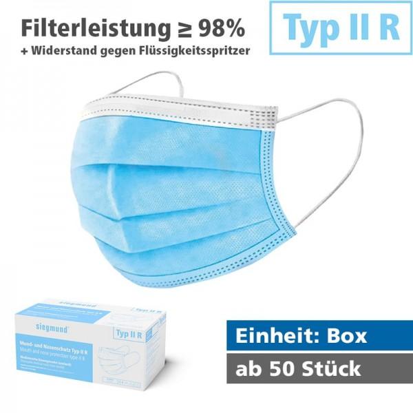 Medizinischer Mund- und Nasenschutz - Typ IIR (Box) MNS Typ IIR Widerstand gegen Flüssigkeitsspritze