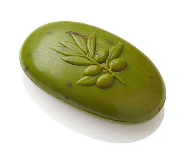 Ovis Hansen Schafmilchseife Scheabutter, Mandelöl , Düfte:Olive grün oval ca. 10 *5.5cm 110 g 100044