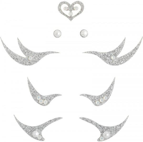 Glamour 4 Silber-Perle 1016065DE Körperschmuck Swarovski Crystal