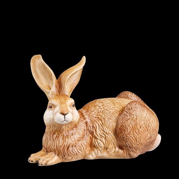 "Figur Hase - ""Amando"" Goebel Ostern Figur Osterhase, Porzellan, braun, 14x7.5x9.5 cm"
