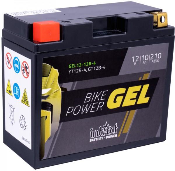 Intact Motorrad Batterie Gel 12 V 10 AH (GT12B-4 / 51299) passend für: LI-12-12B-4 - YT12BBS - 51001